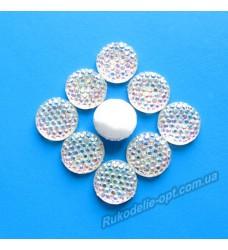 Камни кабошоны All Star круг 12 мм цвет crystal AB 500 шт.