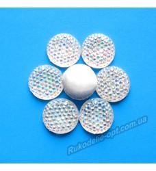Камни кабошоны All Star круг 14 мм цвет crystal AB 500 шт.