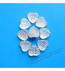 Камни кабошоны All Star сердце 10 мм цвет crystal AB 1500 шт.