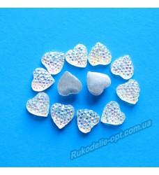 Камни кабошоны All Star сердце 8 мм цвет crystal AB 750 шт.