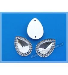 Камни кабошоны All Star пришивные капля новая 18*25 мм цвет crystal 500 шт.