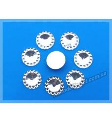 Камни кабошоны All Star круг новый 12 мм цвет crystal 2000 шт. (эконом)