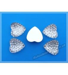 Камни кабошоны All Star сердце 16 мм цвет crystal 500 шт. (эконом)