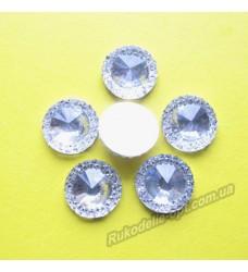 Камни кабошоны All Star круг новый 14 мм цвет crystal 500 шт.
