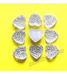 Камни кабошоны All Star сердце 10 мм цвет crystal 1000 шт.