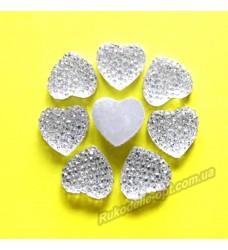 Камни кабошоны All Star сердце 12 мм цвет crystal 500 шт.