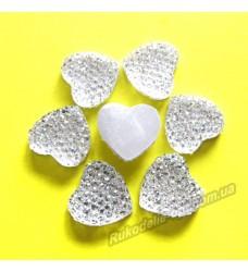 Камни кабошоны All Star сердце 14 мм цвет crystal 500 шт.