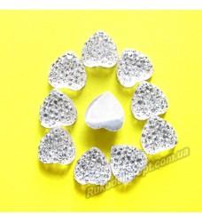 Камни кабошоны All Star сердце 8 мм цвет crystal 1500 шт.