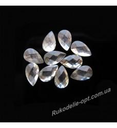 Камни пластиковые капля 4*6 мм цвет crystal 8000 шт.