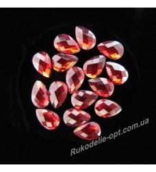 Камни пластиковые капля 4*6 мм цвет красный 8000 шт.