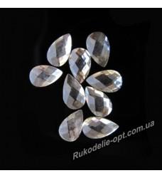 Камни пластиковые капля 5*8 мм цвет crystal 5000 шт.