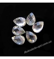 Камни пластиковые капля 7*10 мм цвет crystal 4000 шт.