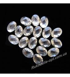 Камни пластиковые овал 4*6 мм цвет crystal 8000 шт.