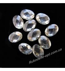 Камни пластиковые овал 5*7 мм цвет crystal 2500 шт.