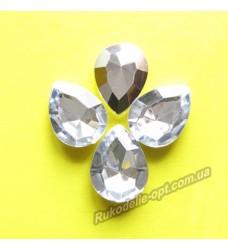 Камни акриловые капля 13*18 мм конусный низ цвет crystal 500 шт.