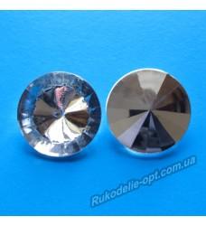 Камни акриловые круг 25 мм конусный низ.