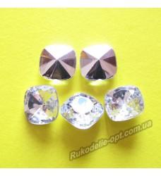 Камни акриловые квадрат 12 мм конусный низ цвет crystal 1000 шт.