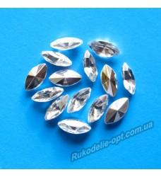 Камни акриловые маркиз 5*10 мм конусный низ цвет crystal 5000 шт.