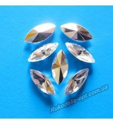 Камни акриловые маркиз 7*15 мм конусный низ цвет crystal 2000 шт.