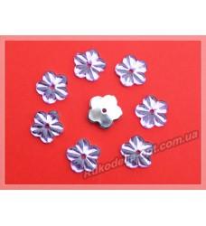 Камни акриловые пришивные цветок 13 мм плоский низ цвет фиолетовый 2000 шт.