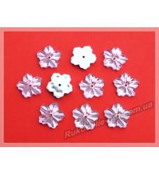 Камни акриловые пришивные цветок 13 мм плоский низ цвет розовый 2000 шт.