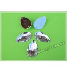 Камни акриловые пришивные капля 14*24 мм цвет crystal 200 шт.