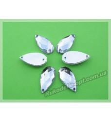 Камни акриловые пришивные капля 9*18 мм цвет crystal 1000 шт.