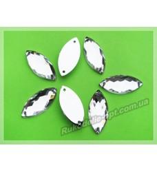 Камни акриловые пришивные маркиз 9*20 мм цвет crystal 1000 шт.