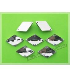 Камни акриловые пришивные ромб 15*23 мм цвет crystal 500 шт.