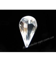 Камни стеклянные капля 6*10 мм цвет crystal