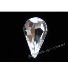 Камни стеклянные капля 8*13 мм цвет crystal