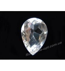 Камни стеклянные капля 10*14 мм цвет crystal