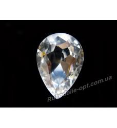 Камни стеклянные капля 18*25 мм цвет crystal