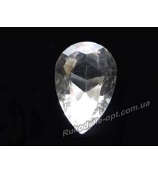Камни стеклянные капля 20*30 мм цвет crystal