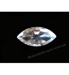 Камни стеклянные маркиз 4*8 мм цвет crystal