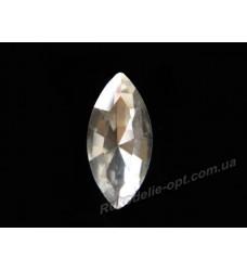 Камни стеклянные маркиз 5*10 мм цвет crystal