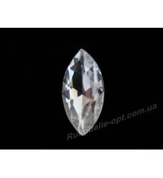 Камни стеклянные маркиз 7*15 мм цвет crystal