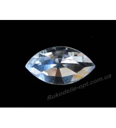 Камни стеклянные маркиз 10*18 мм цвет crystal