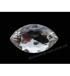 Камни стеклянные маркиз 27*37 мм цвет crystal