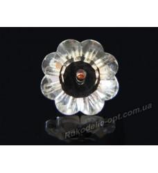 Камни стеклянные цветок 8 мм цвет crystal