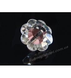 Камни стеклянные цветок 10 мм цвет crystal