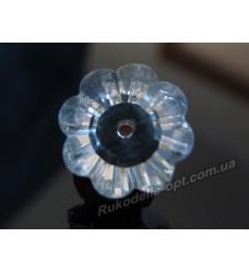 Камни стеклянные цветок 12 мм цвет crystal
