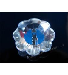 Камни стеклянные цветок 14 мм цвет crystal