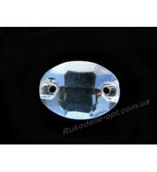 Камни стеклянные пришивные овал 10*14 мм цвет crystal
