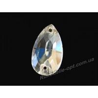 Камни стеклянные пришивные капля 7*12 мм цвет crystal