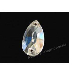 Камни стеклянные пришивные капля 7*12 мм.