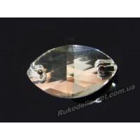 Камни стеклянные пришивные маркиз 6*12 мм цвет crystal