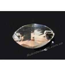 Камни стеклянные пришивные маркиз 6*12 мм.