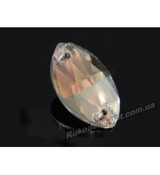 Камни стеклянные пришивные маркиз 9*18 мм цвет crystal