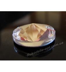 Камни стеклянные пришивные конус 16 мм цвет crystal